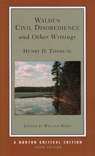 Walden, Civil Disobedience, and Other Writings  3rd 2007 edition cover