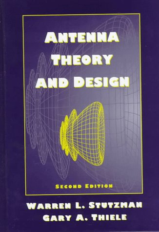 Antenna Theory and Design  2nd 1998 (Revised) edition cover