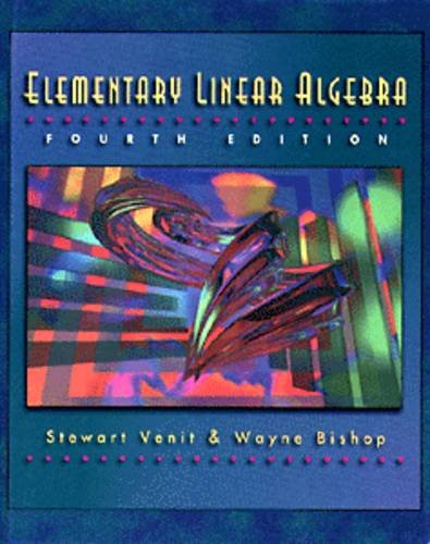 Elementary Linear Algebra 4th 1996 (Revised) 9780534951900 Front Cover