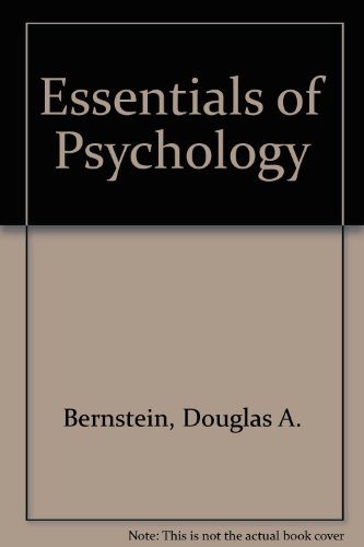 Essentials of Psychology 2nd 2002 (Student Manual, Study Guide, etc.) 9780618169900 Front Cover
