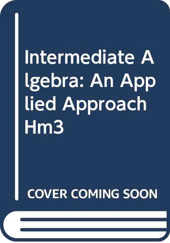 Intermediate Algebra An Applied Approach 6th 2003 9780618226900 Front Cover