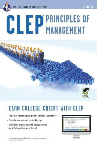 CLEP Principles of Management W/Online Practice Tests:   2012 edition cover