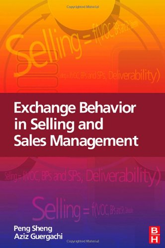 Exchange Behavior in Selling and Sales Management   2008 9780750685900 Front Cover