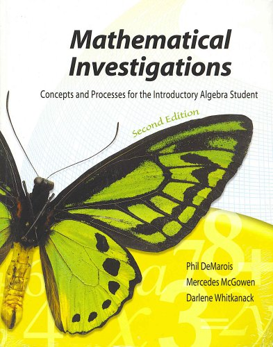 Mathematical Investigations  2nd 2004 (Revised) 9780757503900 Front Cover