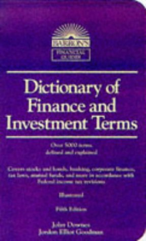 Dictionary of Finance and Investment Terms  5th 1998 (Revised) edition cover