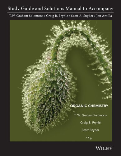 Study Guide and Solutions Manual to Accompany Organic Chemistry  11th 2014 edition cover