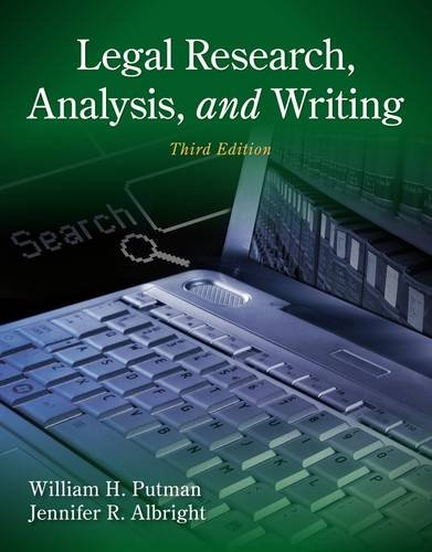 Legal Research, Analysis, and Writing  3rd 2014 edition cover