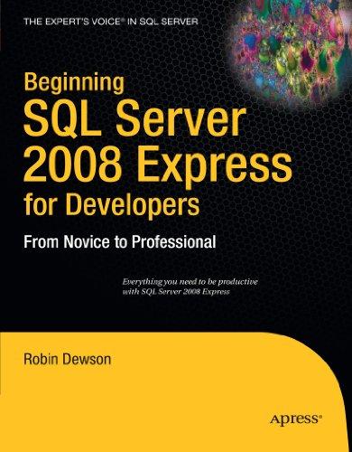 SQL Server 2008 Express for Developers   2009 9781430210900 Front Cover
