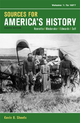 Sources for America's History: To 1877  2014 edition cover