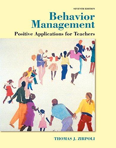 Behavior Management + Enhanced Pearson Etext Access Card: Applications for Teachers  2015 edition cover
