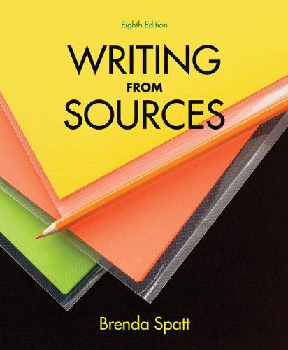 Writing from Sources  8th 2011 edition cover