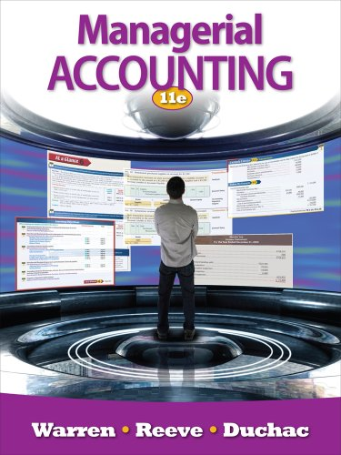 Managerial Accounting  11th 2012 edition cover