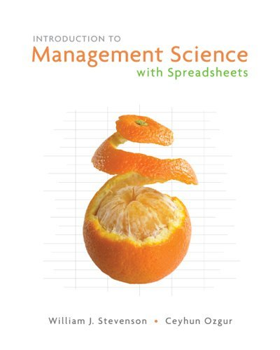 Introduction to Management Science   2007 (Student Manual, Study Guide, etc.) edition cover