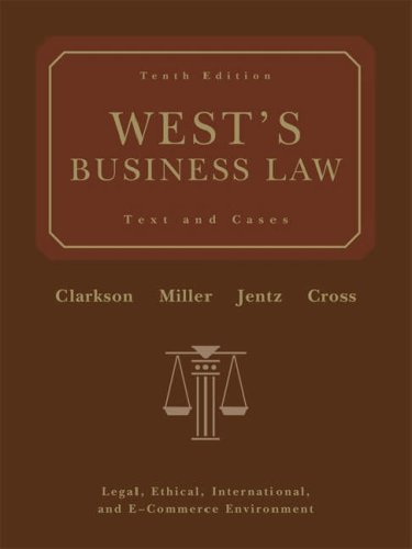 West's Business Law (with Online Legal Research Guide)  10th 2006 (Revised) edition cover