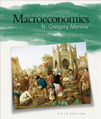 Mankiw Principles of Macroeconomics 5e (with Aplia Its 1-Semester Printed Access Card)  5th 2009 edition cover