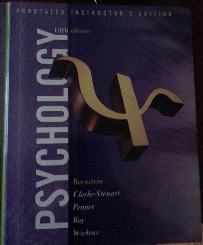 Psychology  6th 2003 9780618219902 Front Cover