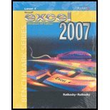 MICROSOFT EXCEL 2007 WIND XP L 1st 9780763829902 Front Cover