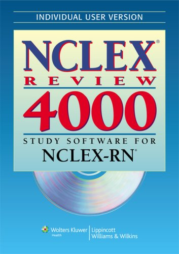 NCLEX Review 4000 Study Software for NCLEX-RN N/A edition cover