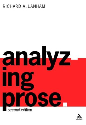 Analyzing Prose Second Edition 2nd 2002 edition cover