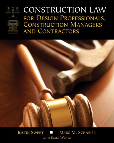 Construction Law for Design Professionals, Construction Managers and Contractors:   2014 edition cover