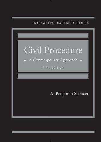 CIVIL PROCEDURE,CONTEMPORY APPROACH     N/A 9781634607902 Front Cover