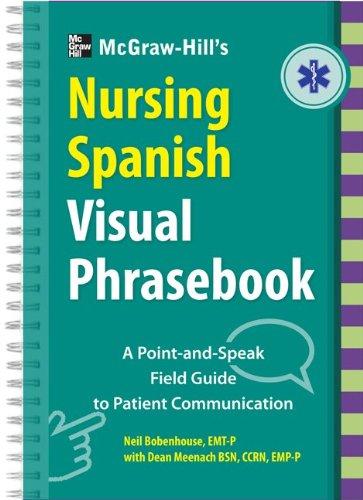 McGraw-Hill's Nursing Spanish Visual Phrasebook   2014 edition cover