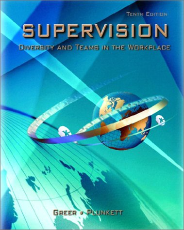 Supervision Diversity and Teams in the Workplace 10th 2003 edition cover