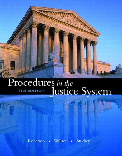 Procedures in the Justice System  8th 2007 (Revised) edition cover