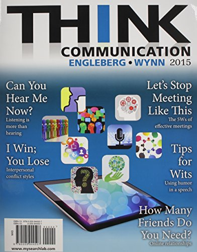 Think Communication + New Mysearchlab With Pearson Etext Access Card:   2014 edition cover