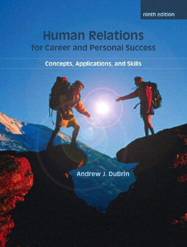 Human Relations for Career and Personal Success Concepts, Applications, and Skills 9th 2011 edition cover
