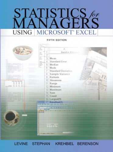 Statistics for Managers Using Excel and Student CD Package  5th 2008 edition cover