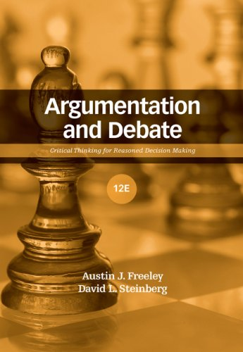 Argumentation and Debate  12th 2009 edition cover