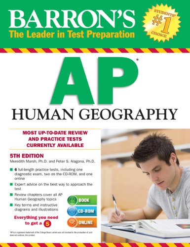 Barron's AP Human Geography with CD-ROM, 5th Edition  5th 2014 (Revised) edition cover