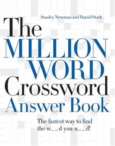 Million Word Crossword Answer Book   2007 9780061125904 Front Cover