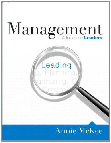 Management A Focus on Leaders  2012 (Revised) edition cover
