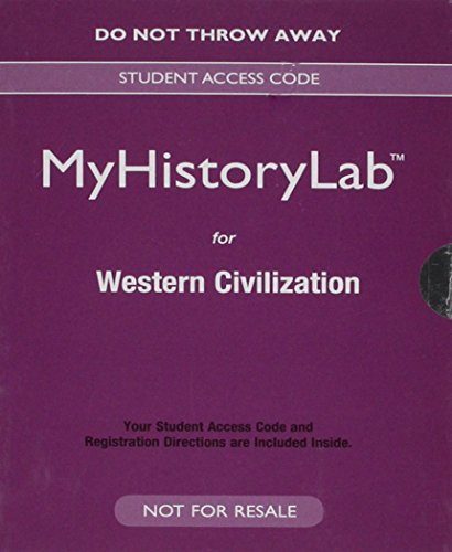 NEW MyHistoryLab for Western Civilization -- Valuepack Access Card   2016 9780133792904 Front Cover