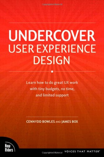 Undercover User Experience Design   2011 edition cover