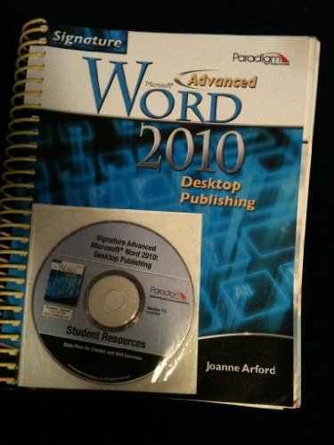 ADVANCED MS WORD 2010 DESKTOP N/A edition cover