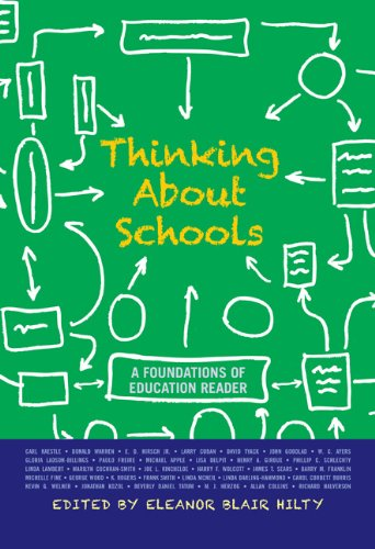 Thinking about Schools A Foundations of Education Reader  2011 edition cover