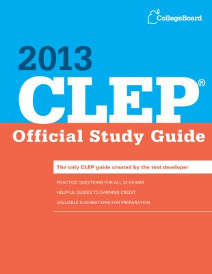 CLEP Official Study Guide 2013  N/A edition cover