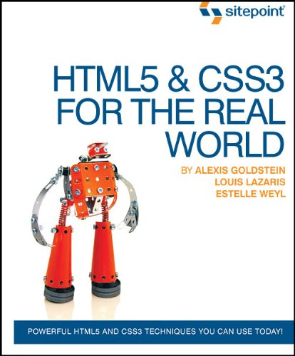 HTML5 and CSS3 for the Real World   2011 9780980846904 Front Cover