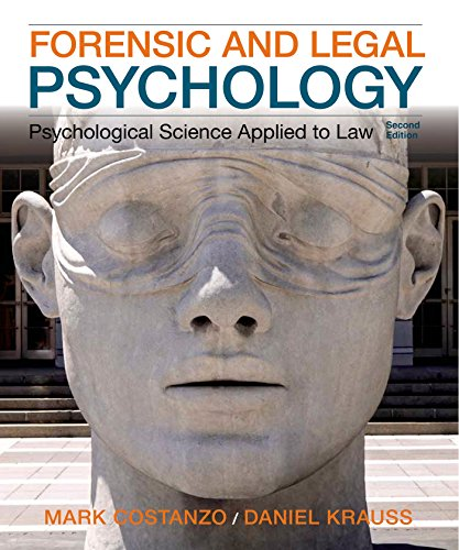 Forensic and Legal Psychology:   2014 edition cover