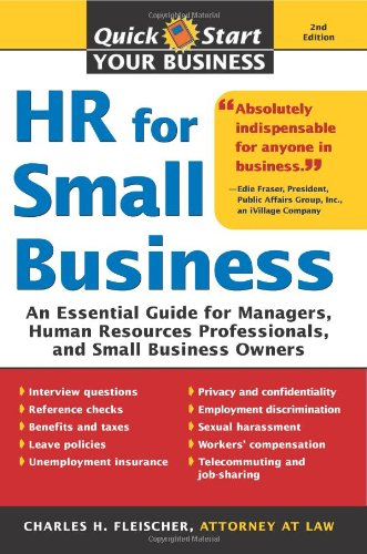 HR for Small Business An Essential Guide for Managers, Human Resources Professionals, and Small Business Owners 2nd 2008 edition cover