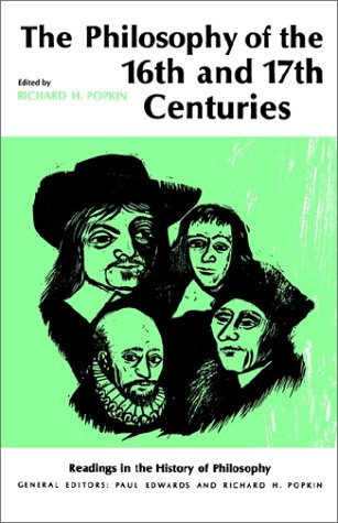 Philosophy of the 16th and 17th Centuries   1966 edition cover