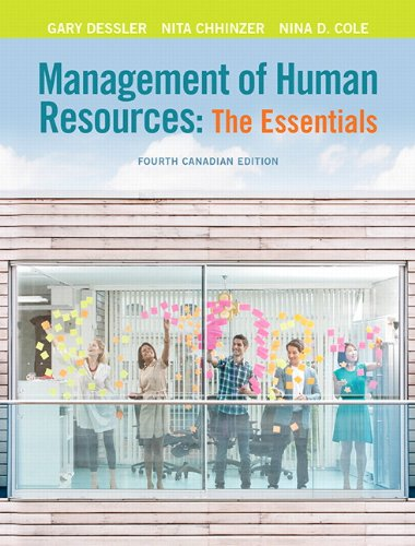 Management of Human Resources The Essentials 4th 2015 9780132114905 Front Cover