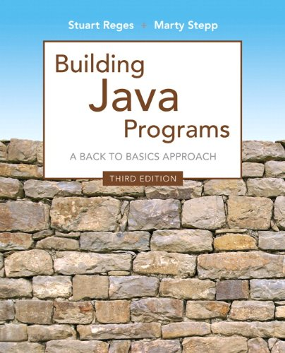 Building Java Programs  3rd 2014 edition cover
