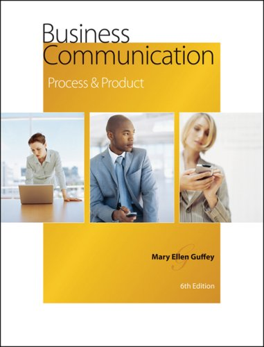 Business Communication Process and Product 6th 2008 (Revised) edition cover