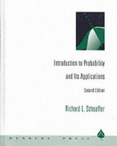 Introduction to Probability and Its Applications  2nd 1995 (Revised) edition cover