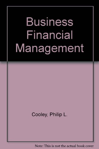 Business Financial Management  4th 9780965945905 Front Cover