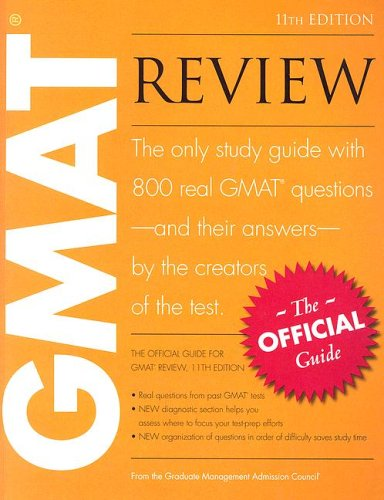 GMAT Review : The Official Guide 11th 2006 edition cover